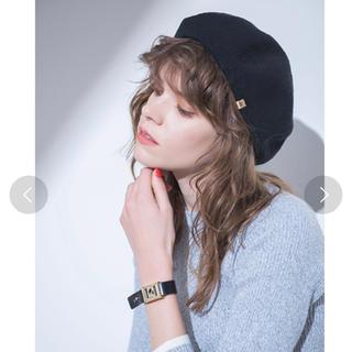 ミラオーウェン(Mila Owen)のMila Owen ベレー帽 (ブラック)(ハンチング/ベレー帽)