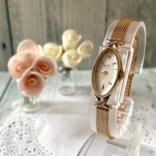 アガット(agete)の【美品】agete アガット 腕時計 クラシック K10 0.052ct(腕時計)