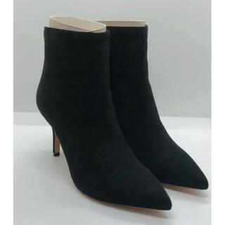 ペリーコ(PELLICO)のPELLICO ペリーコ ポインテッドスエードショートブーツ 35.5 ブラック(ブーツ)