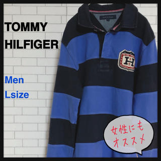 TOMMY HILFIGER - トミーヒルフィガー ポロシャツ 長袖 ラガーシャツ ゆるだぼ 古着女子