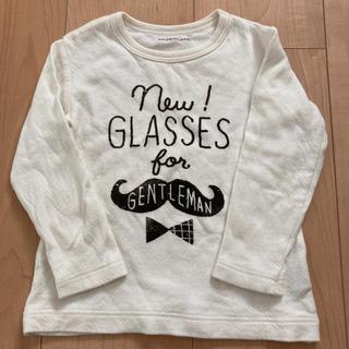 アンパサンド(ampersand)のampersand アンパサンド 白 ロンT 長袖 トップス 女の子 90 95(Tシャツ/カットソー)