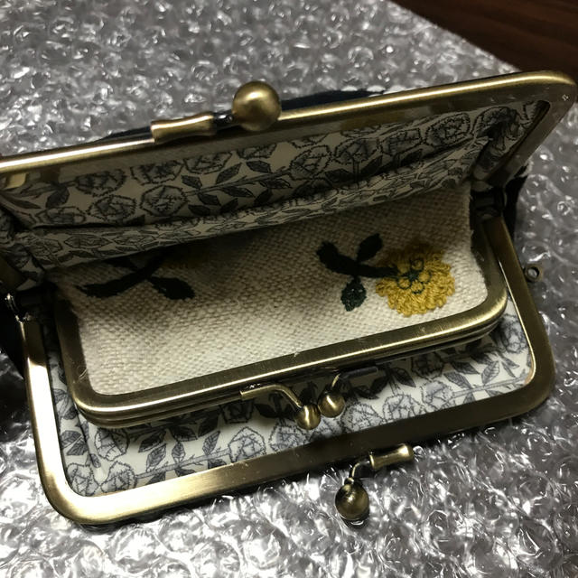 mina perhonen(ミナペルホネン)のミナペルホネン 親子がま口 ハンドメイド ハンドメイドのファッション小物(財布)の商品写真
