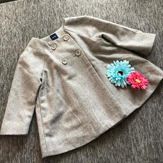 ベビーギャップ(babyGAP)のベビーギャップ コートパーカー グレー赤ちゃん 女の子 ジャケット(コート)
