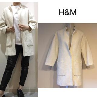エイチアンドエム(H&M)の【美品】H&M.ホワイト ジャケット(その他)