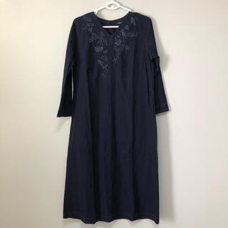 FELISSIMO - Sunny cloudsサニークラウズ インディゴ刺繍ワンピース