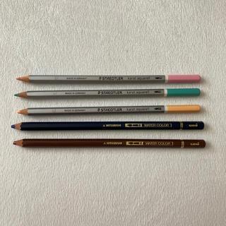 ミツビシ(三菱)の水彩色鉛筆(色鉛筆)