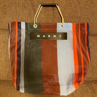 マルニ(Marni)のMARNI フラワーカフェ ストライプバッグ(トートバッグ)
