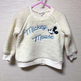 3can4on - 新品 Disneyミッキー   ボアトレーナー 90㎝
