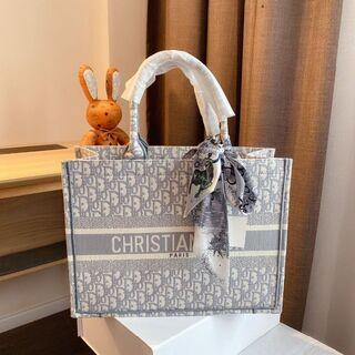 Christian Dior - クリスチャン ディオール ブックトートバッグ グレー