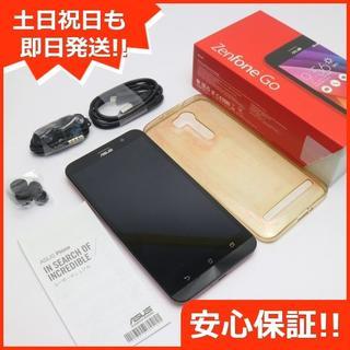 エイスース(ASUS)の美品 SIMフリー ZenFone Go ZB551KL レッド (スマートフォン本体)