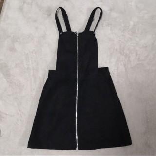 H&M - H&M ワンピース ジャンパースカート ジャンスカ  黒 ブラック