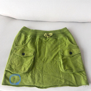 チャムス(CHUMS)の【CHUMSスカート/Lサイズ/黄緑色】(登山用品)