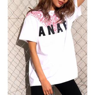 ANAP - ANAP♡    ロゴペイズリー柄Tシャツ