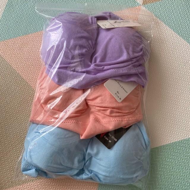 SALE ノンワイヤー ナイトブラ マタニティ 授乳ブラ スポブラ 3枚組 M  レディースの下着/アンダーウェア(ブラ)の商品写真