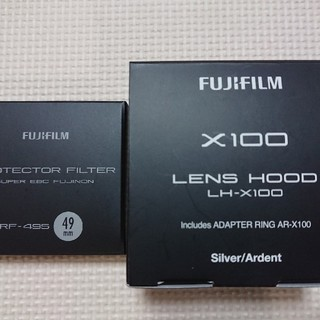 富士フイルム 純正レンズフード・フィルター LH-X100 PRF-49S