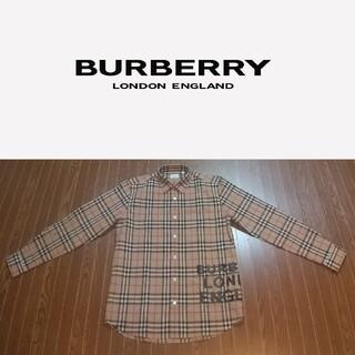 バーバリー(BURBERRY)のBURBERRY バーバリー ロゴ ハウスチェック コットンシャツ ベージュ(シャツ)