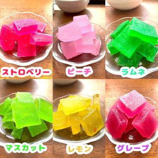 フルーツ 琥珀糖 asmr(菓子/デザート)