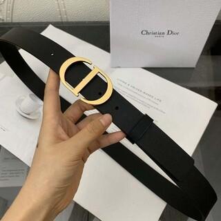 Christian Dior - ディオール レザー ベルト ロゴ CD