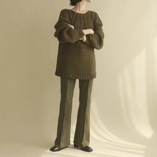 stretch semiflare pants