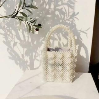 アメリヴィンテージ(Ameri VINTAGE)の新品♡海外インポート パールバッグ 巾着付 結婚式 二次会 パーティー(ハンドバッグ)