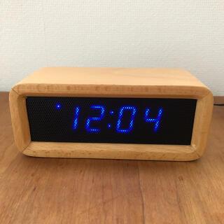 イデアインターナショナル(I.D.E.A international)のIDEA ウッドメッシュ LED クロック ミニ アラーム機能付 デジタル(置時計)
