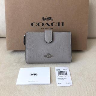 COACH - タグ付き新品★COACH コーチ 二つ折り財布 ライトグレー