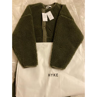 HYKE - 新品未使用 HYKE   別注カラー ボアコート オリーブ
