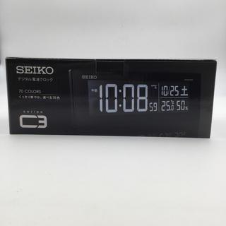 セイコー(SEIKO)の新品未使用 セイコー SEIKO 電波時計 デジタルクロックC3 DL305K (置時計)