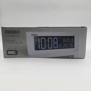 セイコー(SEIKO)の新品未使用 セイコー クロック SEIKO デジタル電波時計 C3 DL305W(置時計)