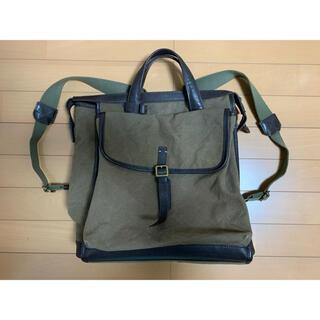 土屋鞄製造所 - 土屋鞄 レザーキャンバス 2wayスクエアリュック 定価6万 送料無料
