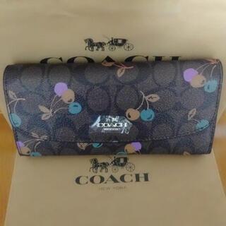 COACH - coach財布二つ折りチェリーブラウン