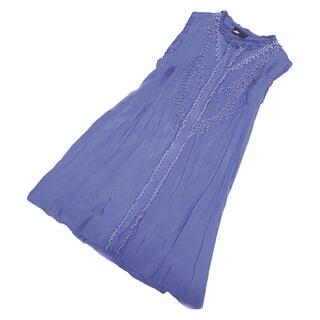 ダブルスタンダードクロージング(DOUBLE STANDARD CLOTHING)の定価1万8千!レイビームス コバルトブルーのコットンワンピース(ひざ丈ワンピース)