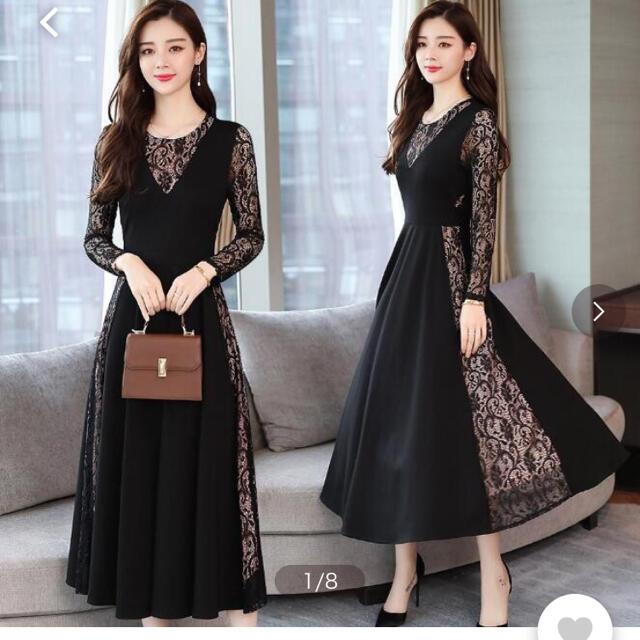 ワンピース 結婚式 パーティードレス レディースのフォーマル/ドレス(ミディアムドレス)の商品写真