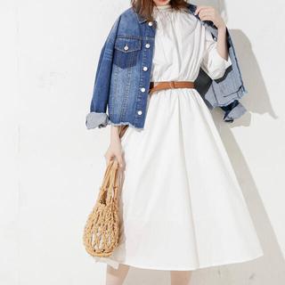 natural couture - 3WAYバンドカラーシャツワンピース