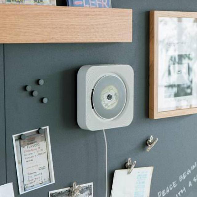MUJI (無印良品)(ムジルシリョウヒン)の[新品・送料無料]無印良品 壁掛式CDプレーヤー CPD-4  スマホ/家電/カメラのオーディオ機器(ポータブルプレーヤー)の商品写真