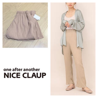 one after another NICE CLAUP - 新品 oneafteranother NICE CLAUP プリーツシアパンツ