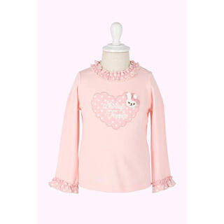 Shirley Temple - うさぎモチーフ付きハートフレームロゴ長袖Tシャツ