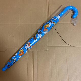 それいけ!アンパンマン 雨・雪用 手開き傘40㎝ 青 ブルー(傘)