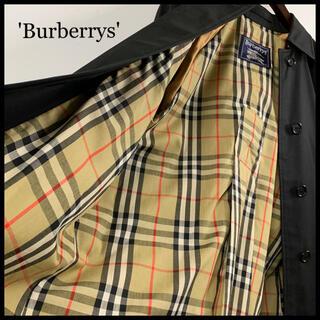 バーバリー(BURBERRY)のBURBERRY バーバリー ステンカラーコート ロングコート 黒 極美品(ロングコート)