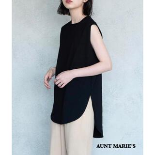 Aunt Marie's - 2020 AUNT MARIE'S 裾ラウンドスリットノースリーブTシャツ