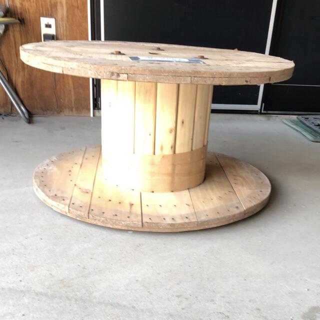 電線ドラム DIY インダストリアル ガーデニング サイドテーブル  即日発送! インテリア/住まい/日用品の机/テーブル(アウトドアテーブル)の商品写真