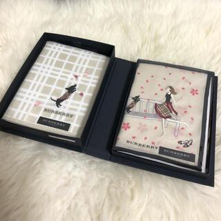 バーバリー(BURBERRY)の【未使用】Burberry♡刺繍ハンカチ2枚セット(ハンカチ)