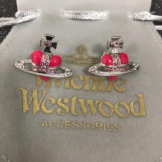 Vivienne Westwood - 新品 ピアス ピンク✖︎シルバー