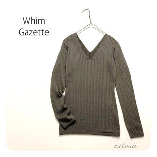 DEUXIEME CLASSE - Whim Gazette ウィムガゼット. Vネック リブ プルオーバー ニット