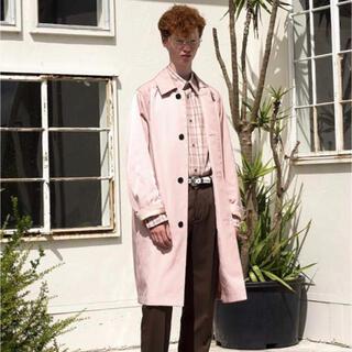 DAIRIKU 20ss Nylon Shop Coat Pink