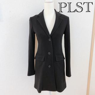 プラステ(PLST)のPLST プラステ チェスターコート ブラック Mサイズ(チェスターコート)