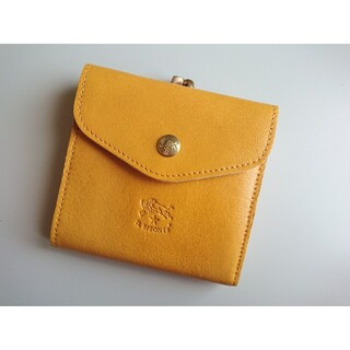 イルビゾンテ(IL BISONTE)の新品 イルビゾンテ がま口 二つ折り財布 スプーマ イエロー(財布)
