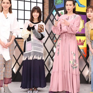 mame - mame kurogouchi パッチワーク ニット 西野 七瀬さん着用