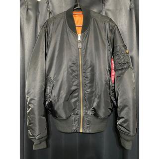 アルファインダストリーズ(ALPHA INDUSTRIES)のALPHA MA-1 Lサイズ 黒 中古 アルファ フライトジャケット美品(フライトジャケット)