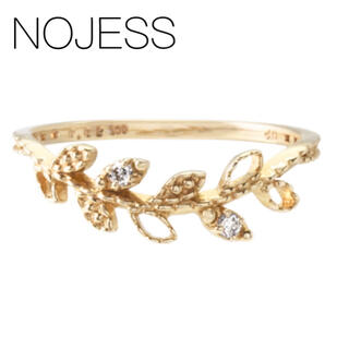 NOJESS - ★現行品★【NOJESS】K10YG リーフダイヤ ピンキーリング